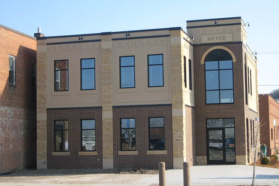 Front View of Corporate 4 Insurance Company, Corporate Office Addition Project in Mankato, Minnesota