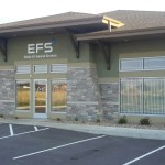 Exterior View of Jand Development Strip Mall, EFS Entrance, New Construction in Mankato, Minnesota