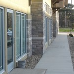 Exterior Windows of Jand Development Strip Mall, New Construction in Mankato, Minnesota