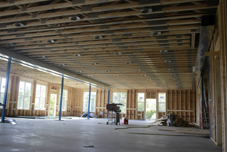 Interior of Dinning Hall Addition, Lake Beauty Bible Camp, Construction Project in Long Prairie, MN