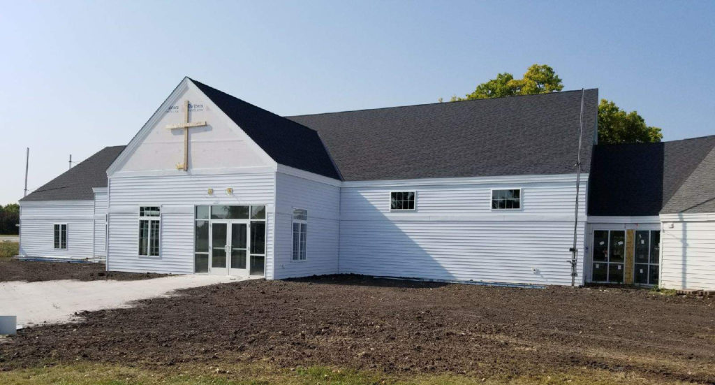 Side View of Peace Evangelical Lutheran Church, Church Remodel and Addition