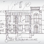 Elevation Sketch of Corporate 4 Insurance Company, Corporate Office Addition Project in Mankato, Minnesota