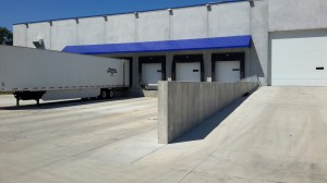 Loading Dock for Western Specialized Warehouse, Exterior View, New Construction in Mankato, Minnesota