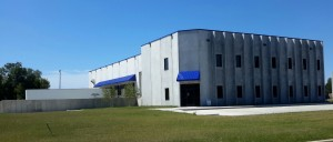Exterior View, Entrance to Western Specialized Warehouse, New Construction in Mankato, Minnesota