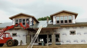 Exterior construction of Lake Beauty Bible Camp