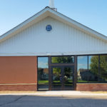 Front View of Entrance to Christ Community Church, Church Remodel Project in Owatonna, Minnesota