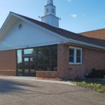 Side View of Entrance to Christ Community Church, Church Remodel Project in Owatonna, Minnesota